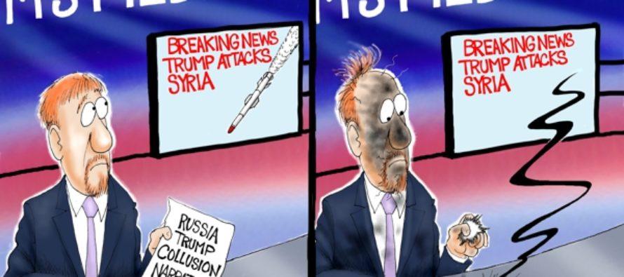 Trump Destroys Russia Narrative (Cartoon)