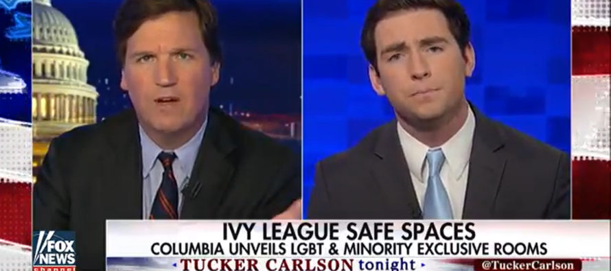 FIGHT! Tucker Carlson Takes On Ivy League Snowflake In 'Safe-Space' Debate! [VIDEO]