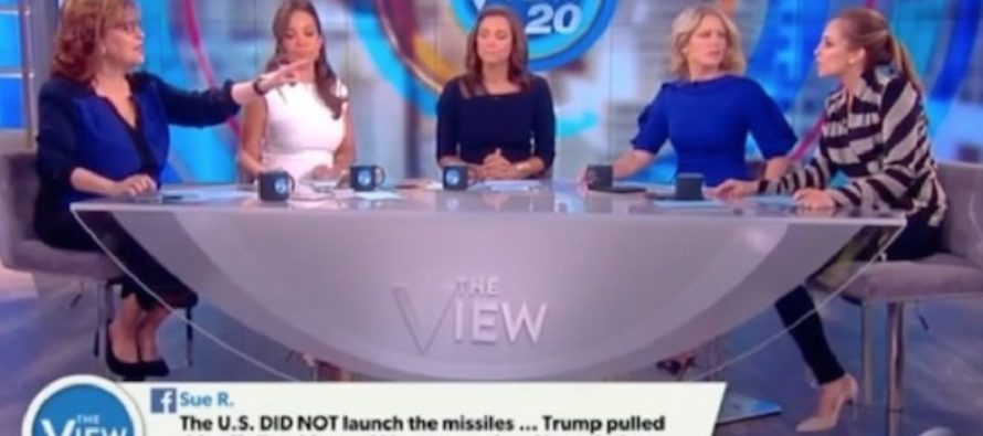 Mindless Ladies Of The View Drop Their Opinion Of Trump Airstrike – Come Off As PSYCHOS! [WATCH]