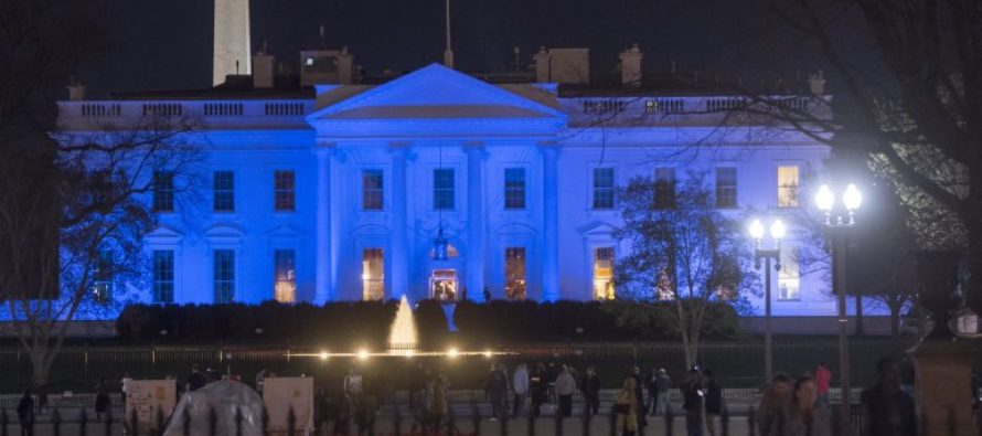Trump Lights the White House in Blue – The Reason Why Will Give You Chills