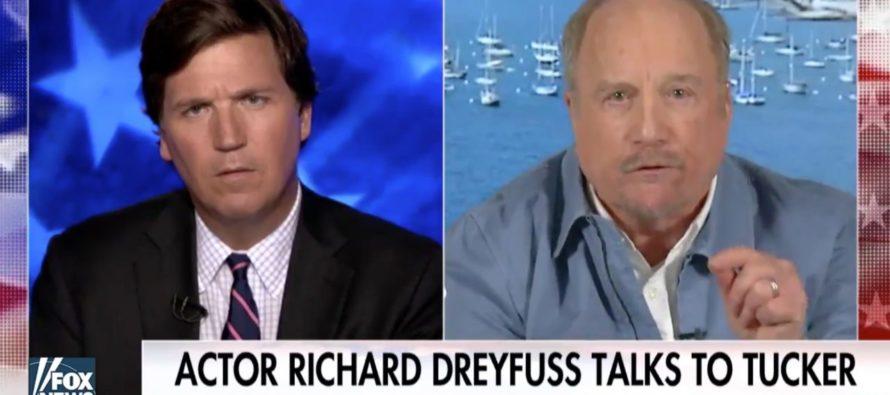 Richard Dreyfuss Makes An ASTONISHING Claim That SHOCKS Tucker Carlson! [VIDEO]