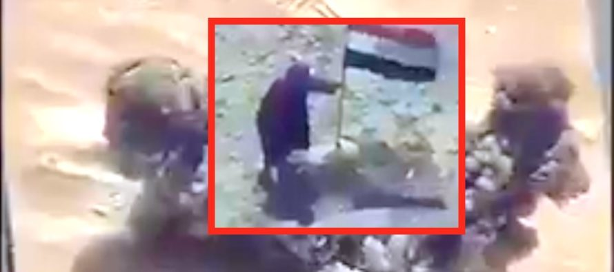 ISIS Fighter Left For Dead By Comrades After He's SPOTTED By A Soldier With FIRE POWER [VIDEO]