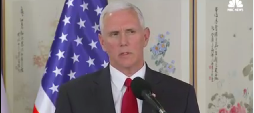 PATRIOTIC CHILLS! Pence Breaks Security Plan To STARE DOWN Kim Jong-Un's Soldiers! [WATCH]