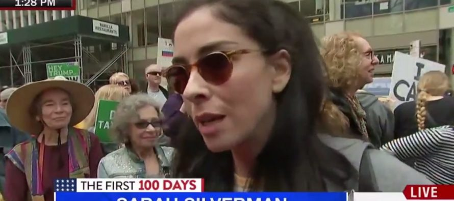 Sarah Silverman Shows Just How DUMB She Is At An Anti-Trump Rally! [VIDEO]