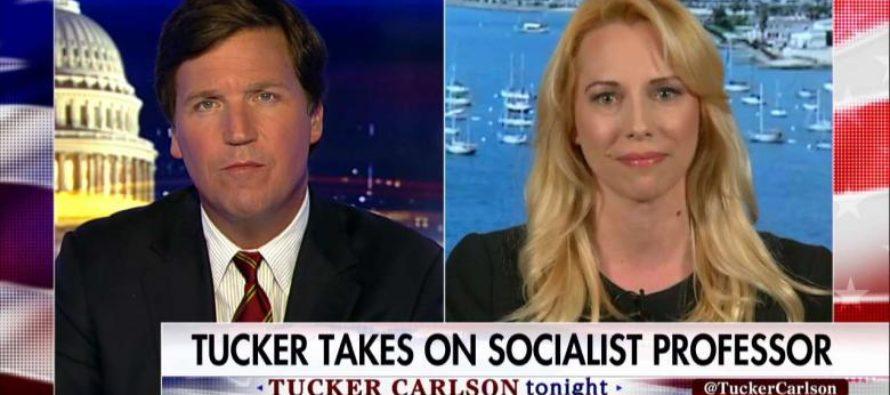 BOOM: Tucker Carlson Leaves Socialist Professor Stuttering [VIDEO]
