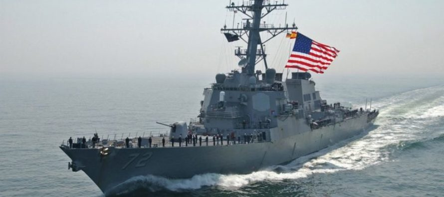 BOOM! Armed Iranian Ship Sent PACKING When US Destroyer Shows Them Who's President!