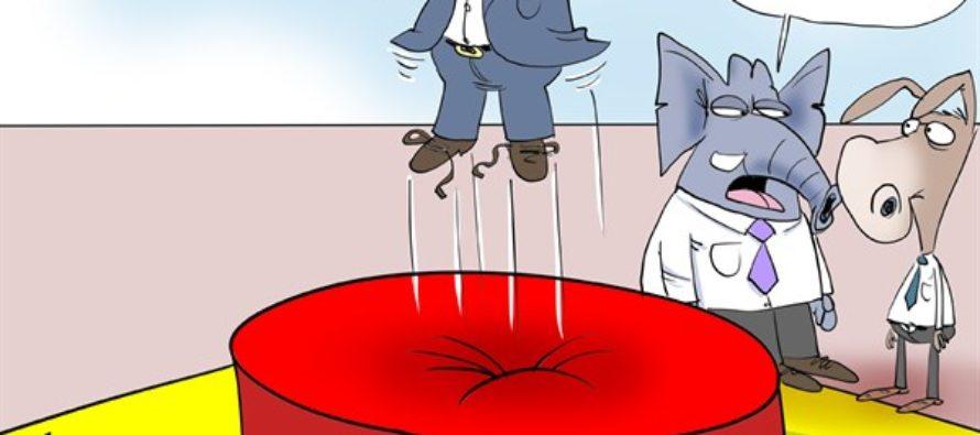 Trump Trampoline (Cartoon)