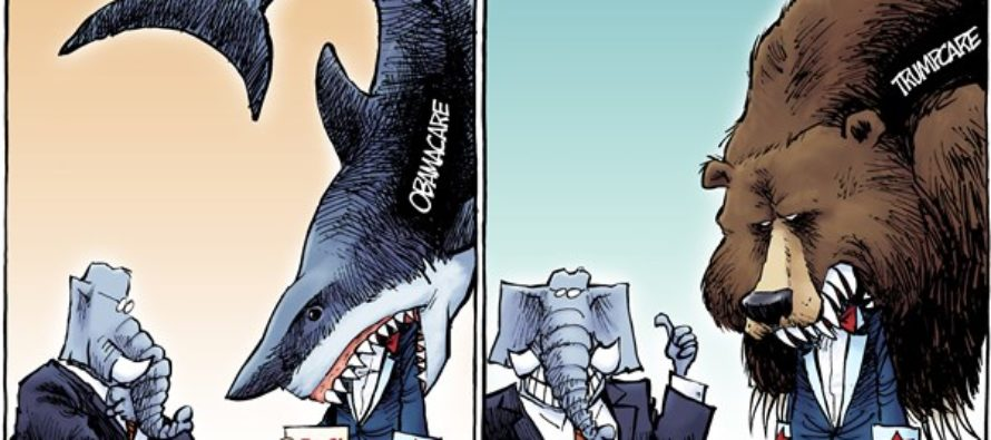 Obamacare vs Trumpcare (Cartoon)