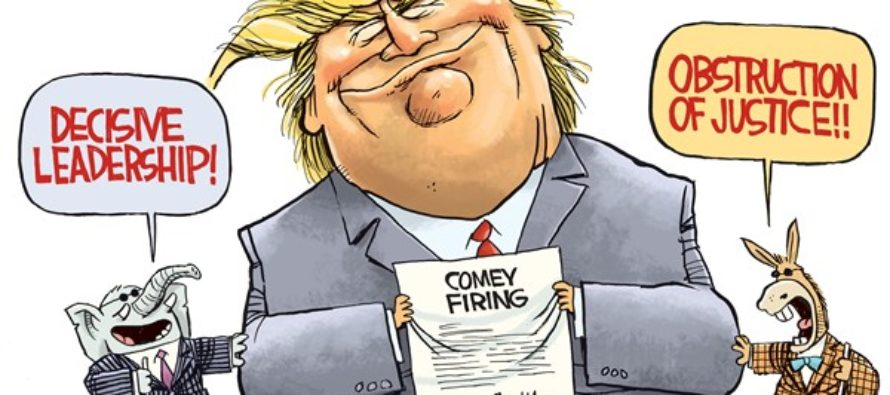 Trump Blind Men (Cartoon)