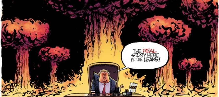 Trump Goes Boom (Cartoon)