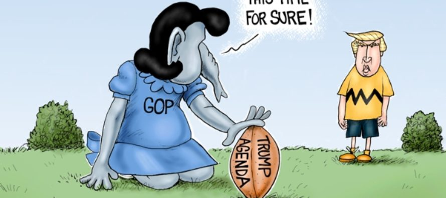 GOP Football (Cartoon)
