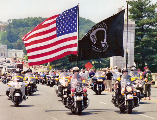Rolling Thunder Motorcyclists Roll Into D.C. to Honor POW/MIA