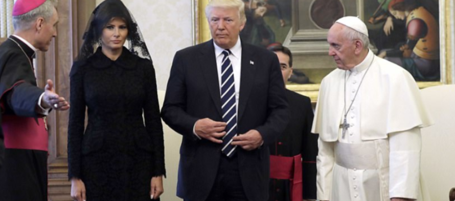 You'll CHEER When You See What Melania Trump Did During Visit With the Pope