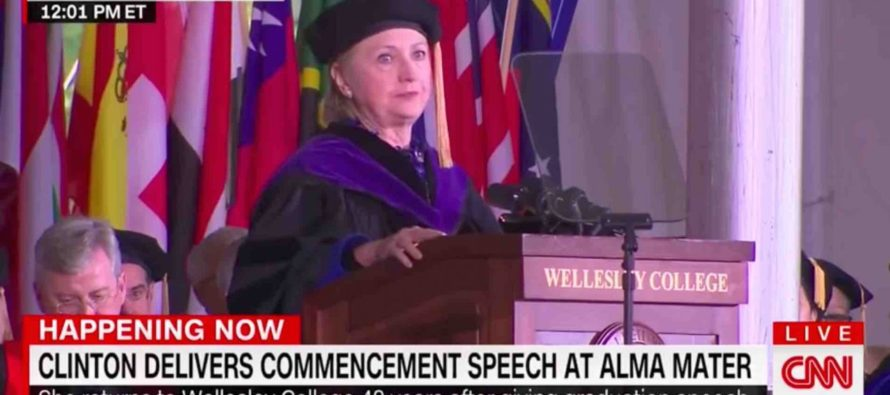Hillary Clinton Humiliates Herself While Speaking At College Commencement Speech [VIDEO]
