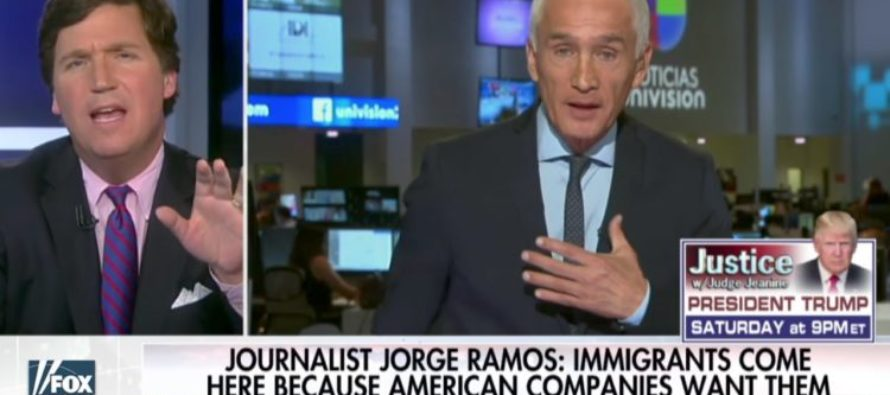 AWESOME! Tucker Carlson Backs Jorge Ramos Into A FACTS Corner During Edgy Debate On Illegal Immigration [VIDEO]