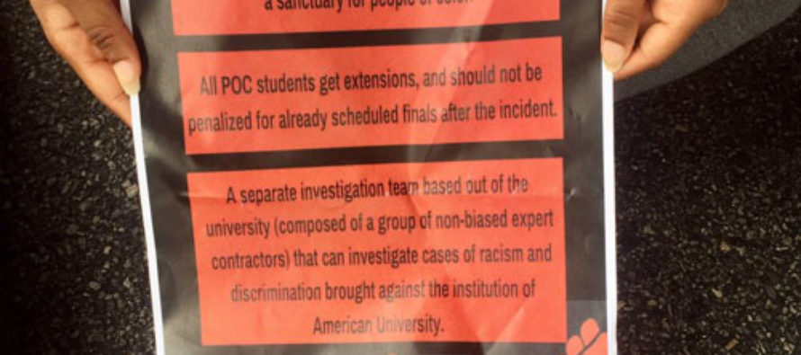 Black Privilege Includes Getting Extensions on Finals at American University