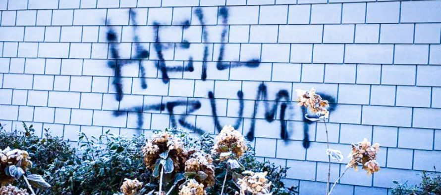 """Look Who GOT CAUGHT After Spray Painting Swastika, """"Heil Trump"""" on Church"""