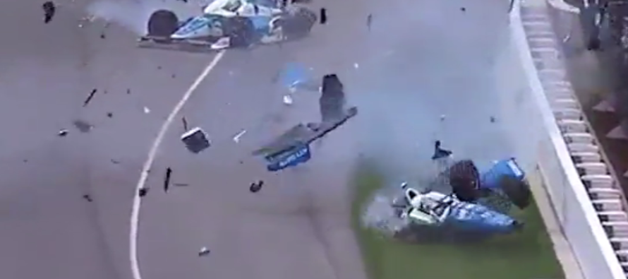 Watch what happens when Indy 500 car flies thru the air and rips in half in horrifying crash