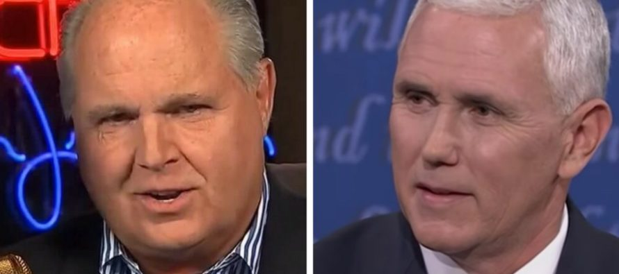 Limbaugh Speaks Out To Pence: 'Why Vote Republican, Dems Get Their Way Anyway…?' [VIDEO]