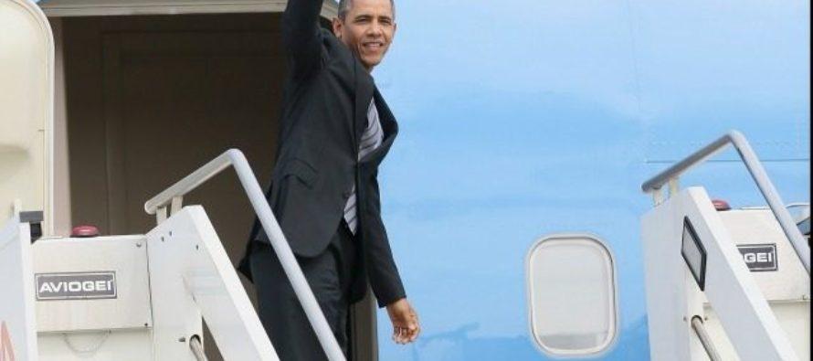 Obamas Living Like ROYALTY – $15K Per Night Villas, 6 Fighter-Jet Escort, 13 Car Motorcades [VIDEO]