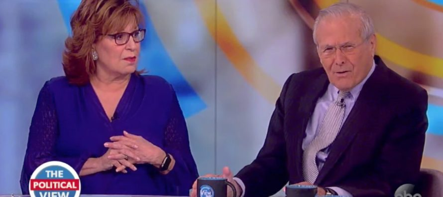 Ouch! Donald Rumsfeld Reveals Joy Behar's IDIOCY In Hilarious VIDEO!