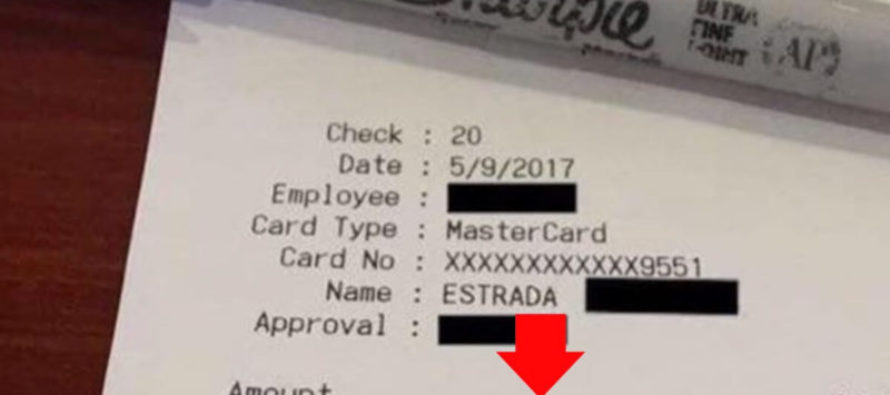 "Check Out This ""Tip"" That Cops Left a Cop-Hating Waitress"