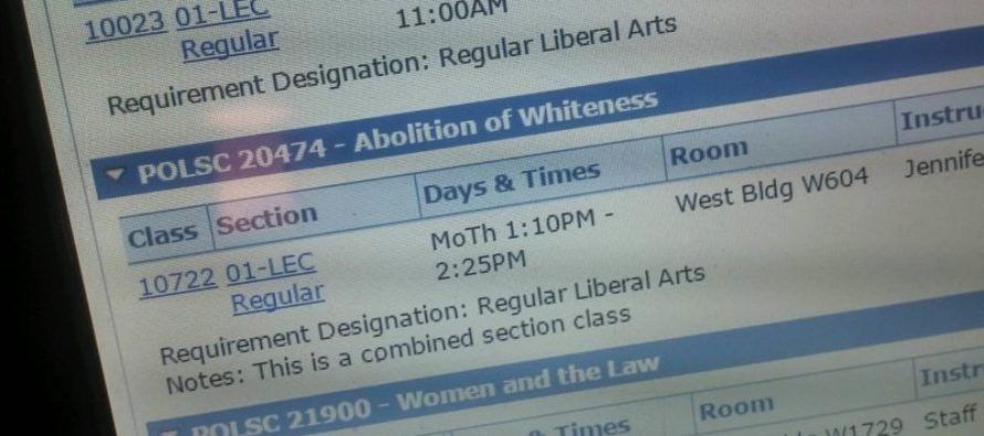 'Abolition Of Whiteness' Course Fulfills Political Science Requirement at College