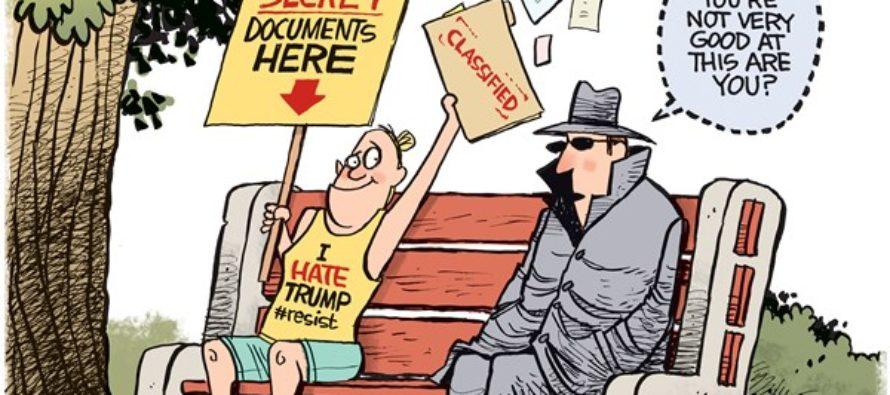 Trump Leaker (Cartoon)