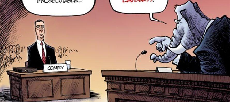 Comey Speaks (Cartoon)