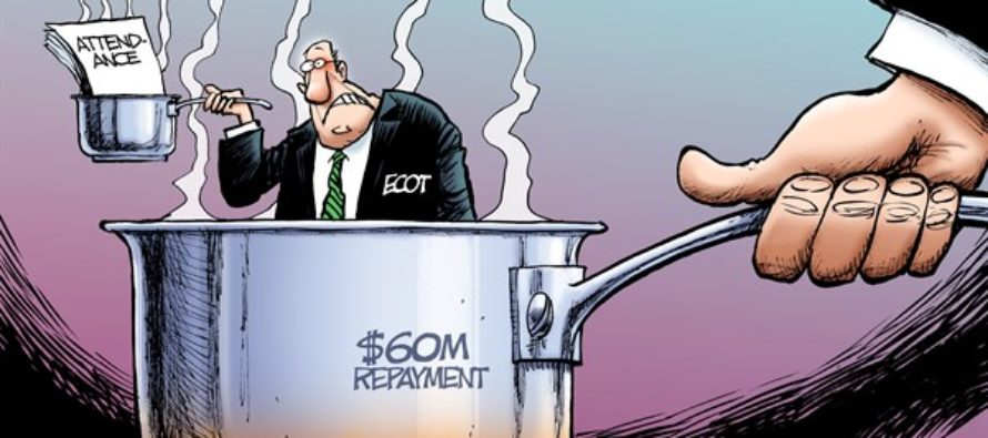 LOCAL OH ECOT in Hot Water (Cartoon)