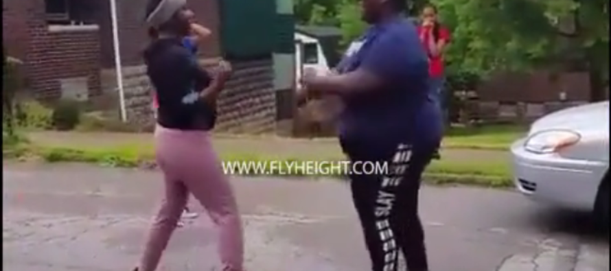 FIGHT VIDEO: Big Girl Tosses Around Two Girls Like Rag Dolls After They Try To Jump Her