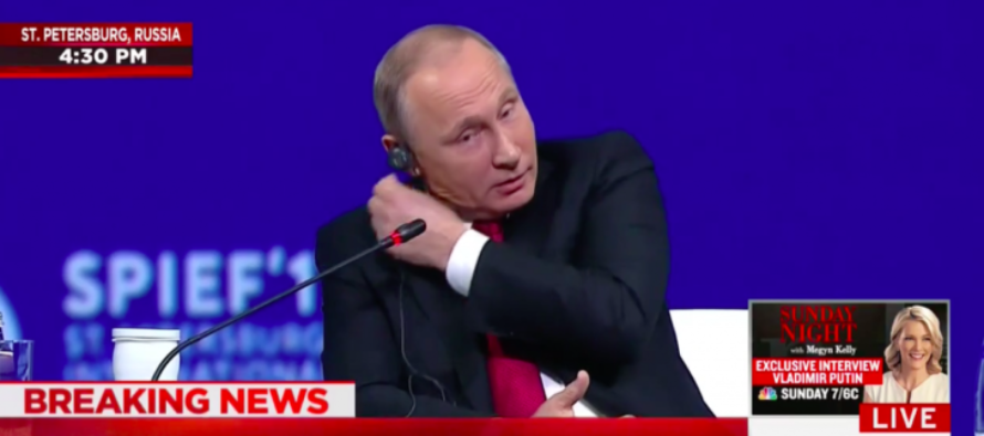 Putin RIPS Earpiece Out After Megyn Kelly Asks Sensitive Question – Then He Responds. [WATCH]