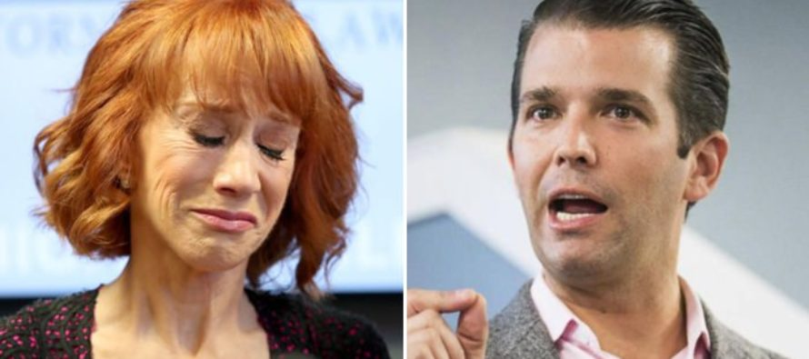 Trump Jr. Slams Kathy Griffin: 'Deserves Everything That's Coming to Her' [VIDEO]