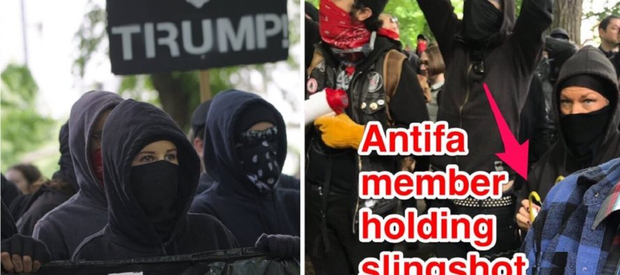 Antifa Protesters Launched Balloons Filled With Urine And Feces At Police