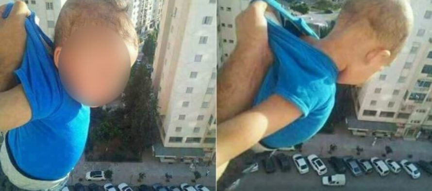 """Father Dangles BABY Outside Window of 15th Floor for """"LIKES"""""""