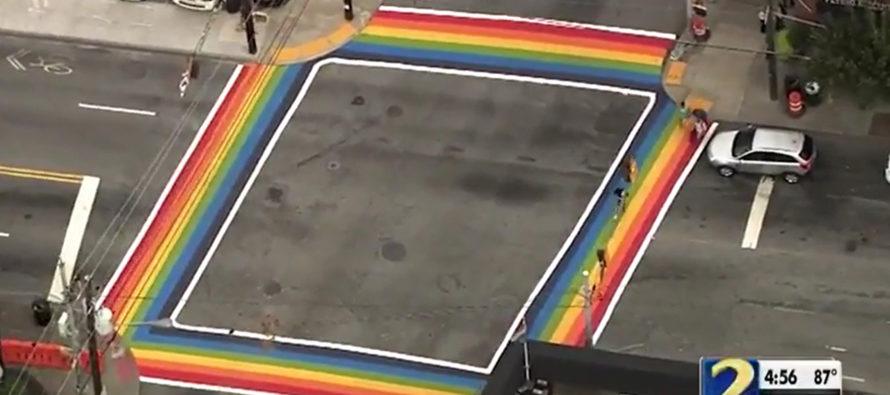 LGBT Community DEMANDING Permanent 'Rainbow Crosswalks' In Cities Across The Country