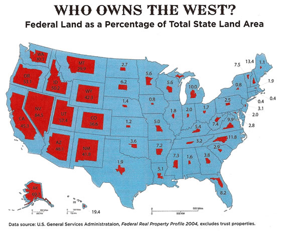 federally owned land