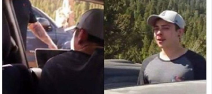 Smug Kid Cuts Off The Wrong Car, He's Not Laughing When He Sees Who Gets Out [VIDEO]