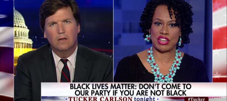 Black Lives Matter Activist Gets Mic CUT OFF By Tucker Carlson While YELLING About White Racism [VIDEO]