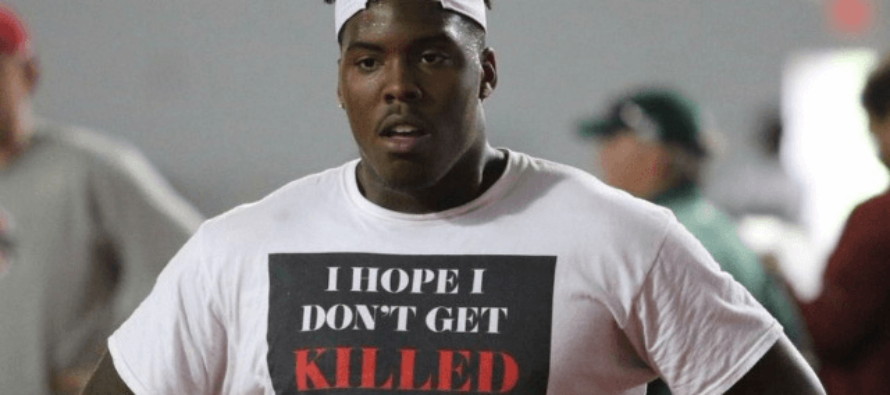 University Football Recruit's T-Shirt: 'I Hope I Don't Get Killed For Being Black today'