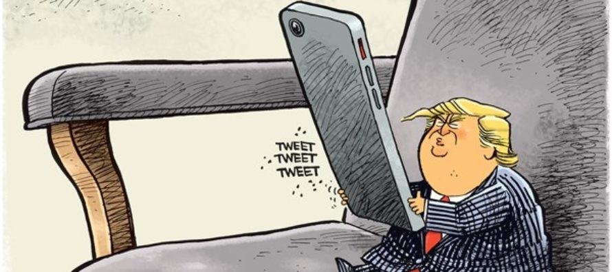 Trump Tweets (Cartoon)