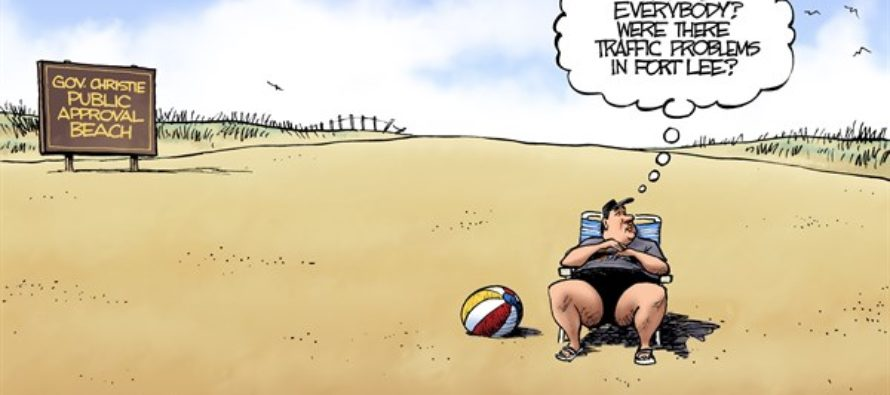 Chris Christie Beach (Cartoon)
