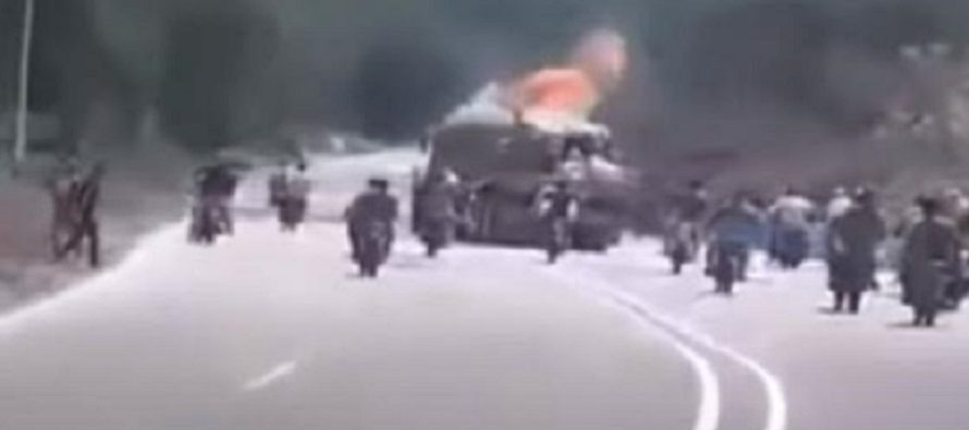 VIDEO: Mad Max in Socialist Venezuela: Bikers use Molotov Cocktails to Steal Truck's Sugar Payload