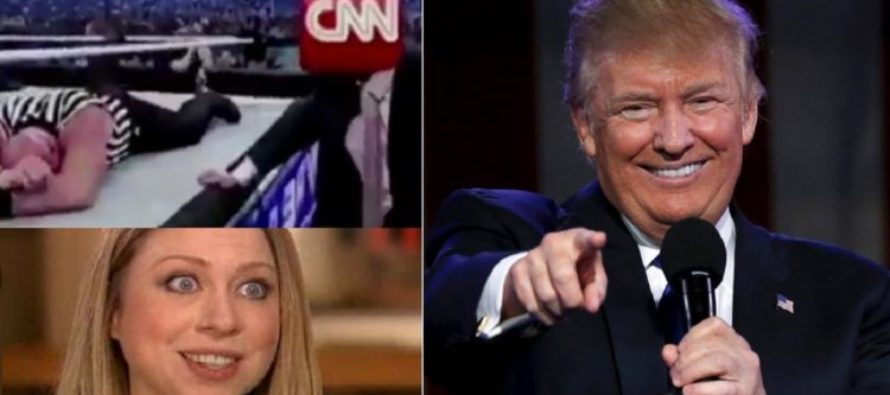 Trump Tweets Video Beating Up CNN and Chelsea Clinton Can't Stand It