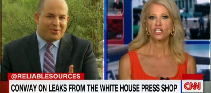 Watch Kellyanne Conway DESTROY CNN's Brian Stelter