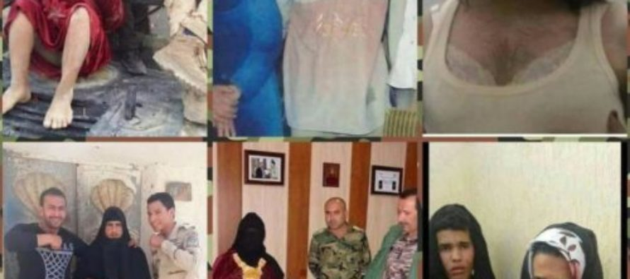 ISIS Terrorists Dress Up In Make-Up And Padded Bras, Try To Pass As Women To Escape MOSUL – FAIL! [VIDEO]