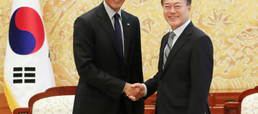 Obama Still Thinks He's POTUS – Meets With South Korean President To Discuss Trump [VIDEO]
