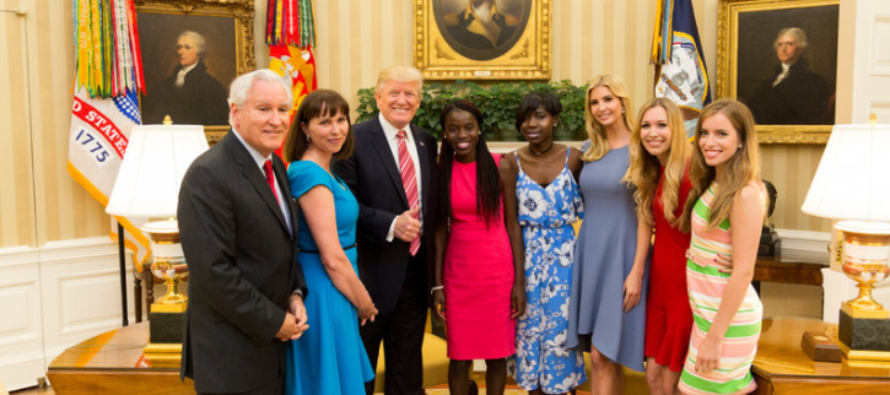 President Trump And Ivanka Meet Quietly With Two Girls Who Escaped From Boko Haram