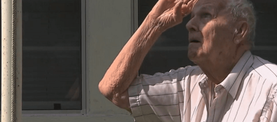 WWII Veteran Jumped In His Own Yard Trying To Defend The American Flag