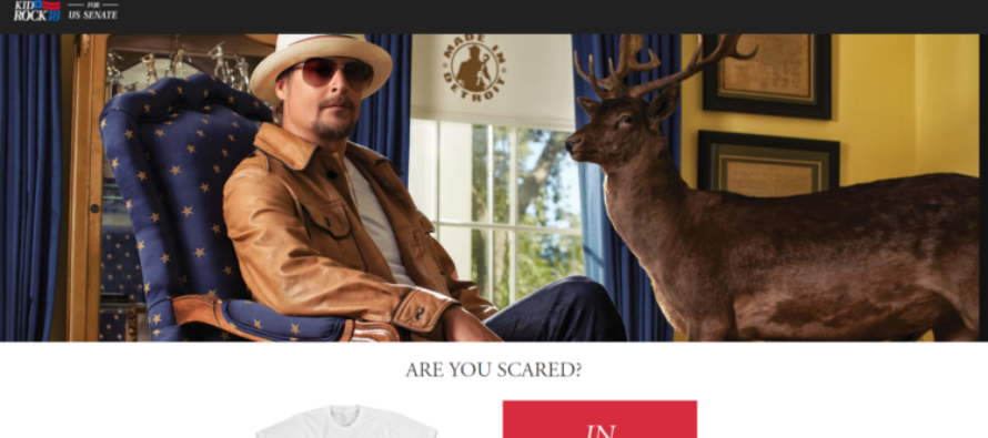 Kid Rock Just Released His First Campaign Message – It's A Good One, Challengers Should Be Worried